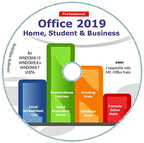 Office Suite 2019 Home Student and Business for Windows 10 8.1 8 7 Vista 32 64bit| Alternative to Office 2016 2013 2010 365 Compatible with Word Excel PowerPoint
