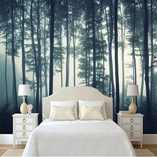 Wuyii 3D-behang natuur landschap boom mist muur TV muur woonkamer 3D behang 120 x 100 cm.