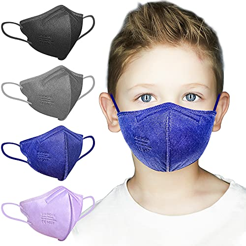 AHOTOP FFP2 Masken   20 Stück Masken Mundschutz   FFP2 Maske Bunt Kleine Größe   FFP2 Maske CE Zertifiziert  FFP2 Maske Farbig, FFP2 Maske Schwarz Blau Grau Lila  Gesichtsmaske Mund Nasen Schutzmaske