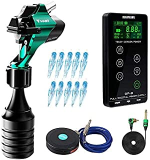 Complete Rotary Tattoo Machine Kit Mast Flash Rotary Machine Kernloze Motor Liner en Shader LCD Make-up Dual Power Supply ...