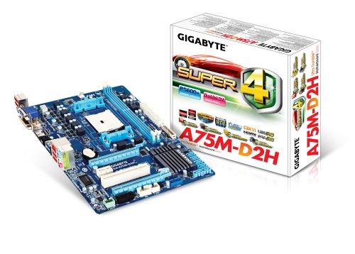 Gigabyte GA-A75M-D2H Mainboard Sockel FM1 (ATX AMD A75, 2X DDR3 Speicher, 4X USB 3.0)