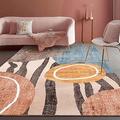 YLBH Alfombras para sala de estar, cojines nórdicos modernos minimalistas para sofá y mesa de café, alfombras ligeras de lujo, alfombras grandes para el hogar de 140 x 200 cm T