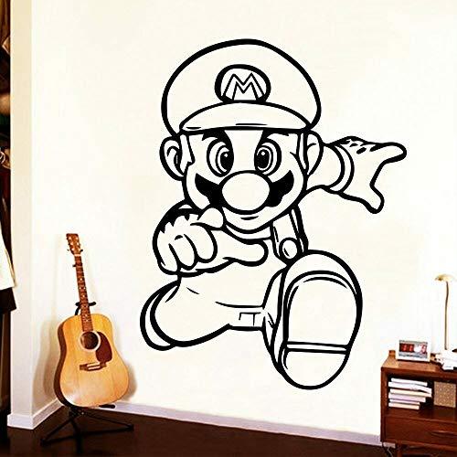 LKJHGU Super Mario Spiel Cartoon Mario Vinyl Wandaufkleber Spiel Showcase Weihnachtsferien Weihnachtsdekoration