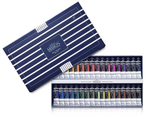 Mijello Water color MISSION White Class Watercolors 34pcs x 15ml