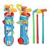 XuBa Giochi da Giardino per Bambini Mini Gioco da Golf Giocattoli Set di Mazze da Golf per Bambini, per Interni ed Esterni Blue