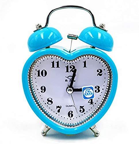 HJTLK Projektion Digitaler Wecker LCD Voice Talking Table Clock Mit Temperaturanzeige, Weiß