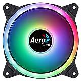 Aerocool Duo 12 ARGB LED PCファン 120 mm 1000 RPM カーブファンブレード 最大の冷却と防振パッド用