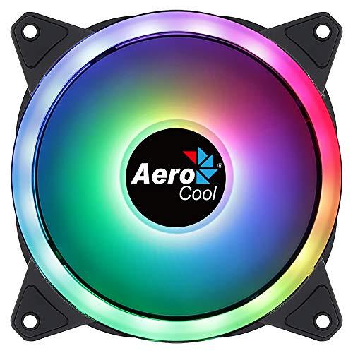 Aerocool DUO12, Ventola PC 120 mm, ARGB LED Dual Ring, Anti-vibrazione, 6 pin
