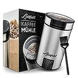 Liebfeld [200W] Elektrische Kaffeemühle mit 65g Füllmenge I Kaffemühle elektrisch mit Edelstahlmesser I Coffee Grinder für Nüsse & Gewürze