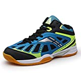 Mishansha Mens Court Sports Tennis Shoes Non Slip Indoor Badminton Squash Athletic Training Running Sneakers Blue 6.5 Men