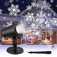 Koicaxy Christmas Snowflake Waterproof Projector Lights