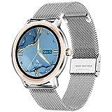LIGE Smartwatch, Reloj Inteligente Mujer, Resistente al Agua IP67, con Pantalla Táctil Completa de 1,1'', Reloj para Mujer con Pulsera de Malla para Android e iOS