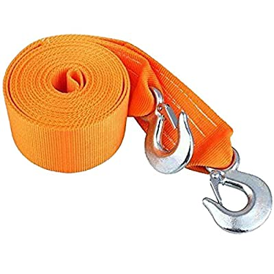 """Tow Strap Heavy Duty, Recovery Strap 3"""" X 20' 18,000 LB Break Strength Rope Winch Strap with 2 Hook"""