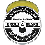 Beard Balm | Leave-in Conditioner & Softener for Men Care | Best Facial Hair & Mustache Grooming Wax | Great for Smooth & Moisturize | Natural & Organic-1oz