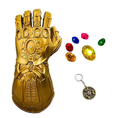 Haho Thanos Infinity Gauntlet Glove Avengers LED Light Stones Thanos Cosplay (Adult)