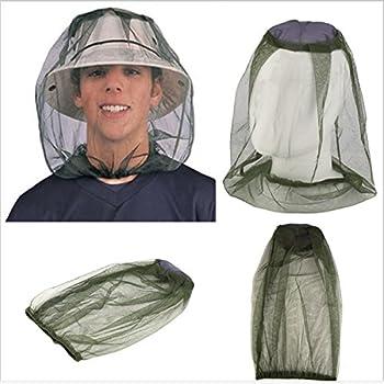 HJUMARAYAN Lot de 2 moustiquaires - Filet de protection pour le visage - Pour l'extérieur, la randonnée, le camping, l'escalade, la pêche, le cyclisme