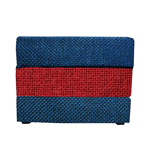 Arketicom Otomana TOUF, la Cama Que se Convierte en Puff, Rojo Amarillo como la Bandera Espanola Special Edition FIFA 2014 80x63x45 cm