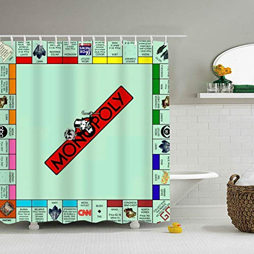 Fornate Standard Printed Shower Curtain Monopoly V09 Map Bath Curtain