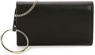 Long Ring Crossbody Black Bag