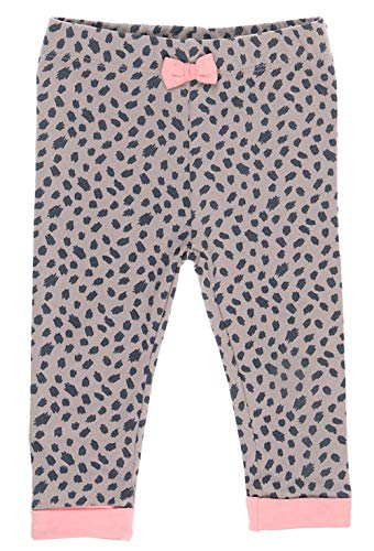 Feetje Frech coole Leggings in Braun mit Altrosa Bündchen & Tierfellmuster With Love 1097 (86)