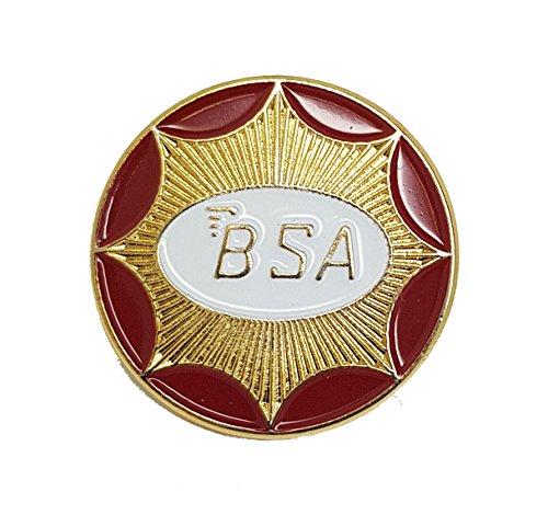 Preisvergleich Produktbild Anstecker,  Metall,  Emaille,  BSA Motorrad Circle (Gold)