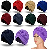 Best Turbans - 10 Pieces Stretch Polyester Turbans Head Bennie Cover Review