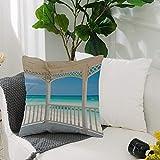 Fundas Cojines de Poliéster -50x50cm,Decoración blanca, playa de Varadero en Cuba desde una imagen d,Fundas de Almohada Decoración con Cremallera Invisible para Sala de Estar, sofá, Dormitorio o Coche