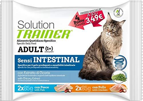 Trainer Solution Sensi Intestinal Multipack con Pollo E Pesce per Gatti da 4x85 Gr