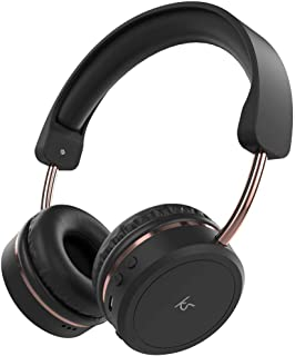 KitSound Metro X Wireless Bluetooth On-Ear Headphones with Track Controls, Mic and Call Handling - Black