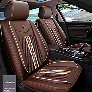 Muchkey 3D Surrounded Luxury PU Leather Car Seat Cover for KIA VQ Forte Picanto Full Set 5-Seats car seat Cover Front+Rear Cushion,Airbag Compatible(NO Head Pillow OR Lumbar Pillow)
