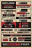1art1 62499 Fight Club Poster - 8 Regeln, Ihr Verliert KEIN