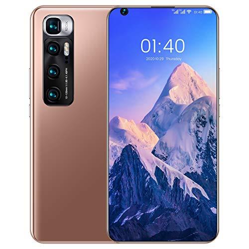 LVHC M10 Ultra Smartphone, 7.2 Pollici HD+ Display, 64GB Rom 4GB RAM 6000mAh Ricarica Rapida, 24MP+48MP Camera, Android 10.0, Face ID, Dual SIM,d oro