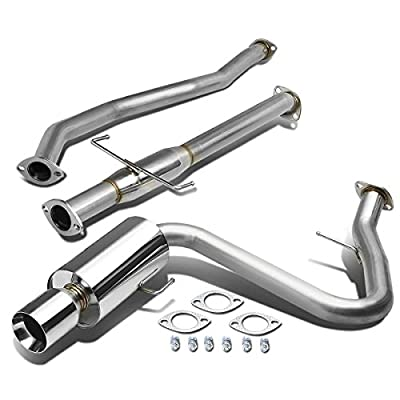 4 Inches Muffler Rolled Tip Catback Exhaust System Compatible with Scion tC Coupe 2.4L 04-10