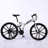 Bicicleta de montaña de 24 pulgadas, bicicleta todoterreno de 21 velocidades, horquilla frontal rígida de carbono en forma de U, apta para adultos y adolescentes.