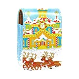 Estuche de lápiz Labial para Bolsa de Maquillaje para Exterior Mini Bolsa de Viaje Estuche cosmético Trineo de Navidad de Santa Claus2 para Mujeres Regalos