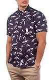 Hurley M Ahi Woven S/S Camisa, Hombre, dk Smoke Grey, S