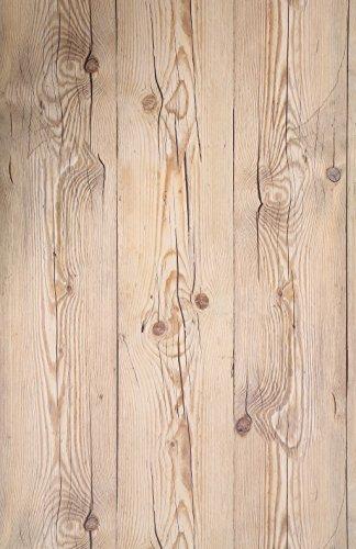 (Marrón Vintage, Paquete de 1) Papel tapiz de mural autoadhesivo con veta de madera reciclada y rústica 50cm X 3M (19,6