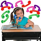 4E's Novelty 16 Read to Self Phone, Whisper Phones for Reading [16 Pack] Auditory Feedback, Hear Myself Sound Phone - Accelerate Reading Fluency, Comprehension & Pronunciation - Speech Therapy Toys