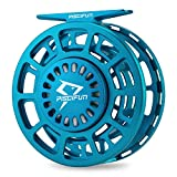 Piscifun Platte Fly Fishing Reel Large Arbor Fully Sealed Drag with CNC-machined Aluminum Alloy Body 7/8 Ice Blue