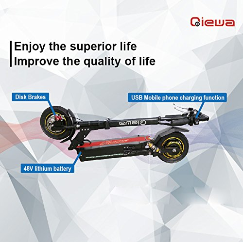 Q1 Qiewa Q1Hummer Electric Scooter 26AH Battery Capacity 800Watts Motor Travel Distance 100Kilometer