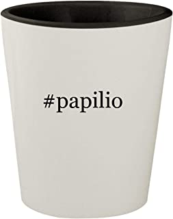 #papilio - White Outer & Black Inner Hashtag Ceramic 1.5oz Shot Glass