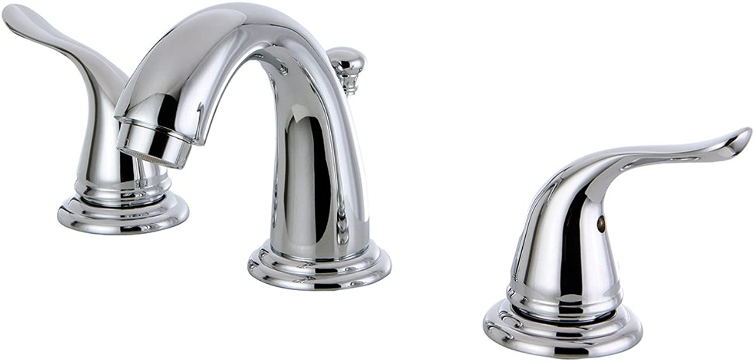 Kingston Brass KB2911YL Yosemite Mini Widespread Two Handle Lavatory Faucet, Polished Chrome, 3-3 4 inch in Spout Reach, Polished Chrome