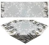 SchönerSchenken Tisch-Läufer 40 x 160 cm Winterlandschaft Pflegeleichte Fotodruck-Tischdecke für stilvolle Advents-/Weihnachtsdekoration