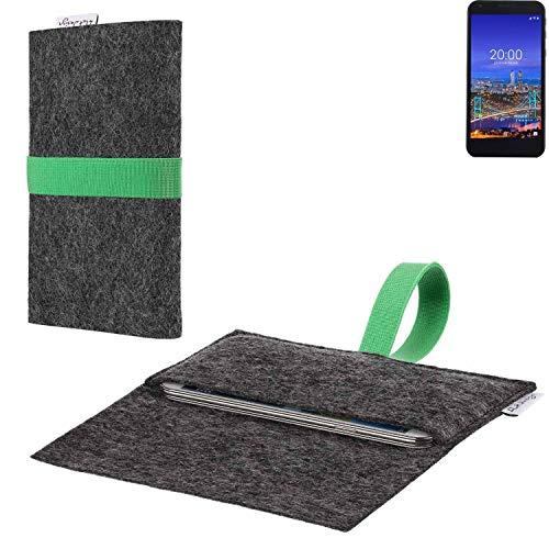 flat.design vegane Handy Hülle Aveiro für Vestel 5530 passgenaue Filz Tasche Case Sleeve Made in Germany
