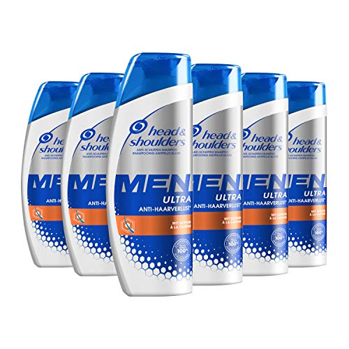 Head & Shoulders Men Ultra Anti-Haarverlust Anti-Schuppen Shampoo, Mit Koffein, 6er Pack (6 x 250 ml)