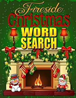 Fireside Christmas Word Search: Easy Large Print Puzzle Book for Adults & Kids: PLUS 30 Christmas Coloring Pages for Relaxation: Great Christmas ... Grandma (Word Search Puzzle Books) (Volume 2)