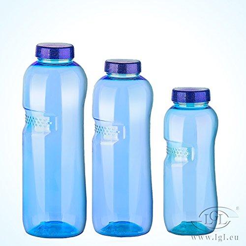 Trinkflaschen-Set: 1L + 0,75L + 0,5L aus Tritan / Wasserflasche / BPA-frei