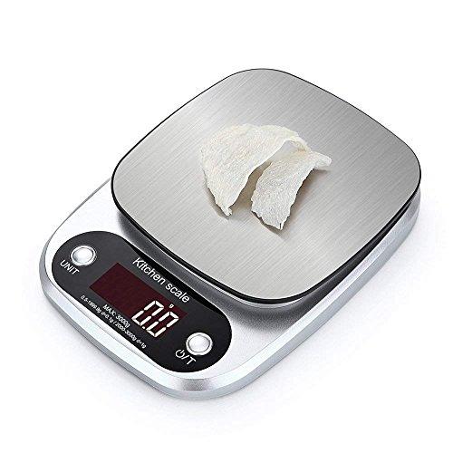 Huatuo®Mini Báscula eléctricas digital básculas de cocina,3 kg / 0.1 g, pequeños...