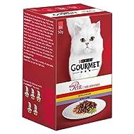 Gourmet Mon Petit Cat Food Pouches Meat, 6 x 50g