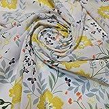 Textile Station Weicher Poly-Kreppstoff mit Blumenmuster,